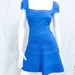 Herve Leger Makayla Embossed Texture Dress